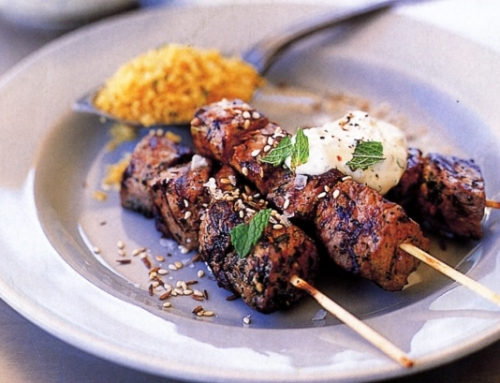 Barbecued Lamb Skewers
