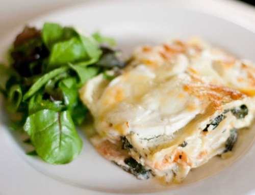 Smoked and fresh fish lasagne
